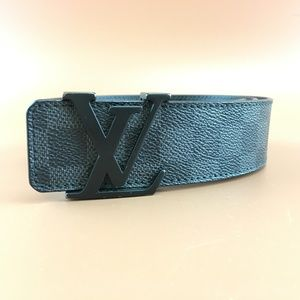 Preowned LV Damier Graphite 40mm Initials Belt